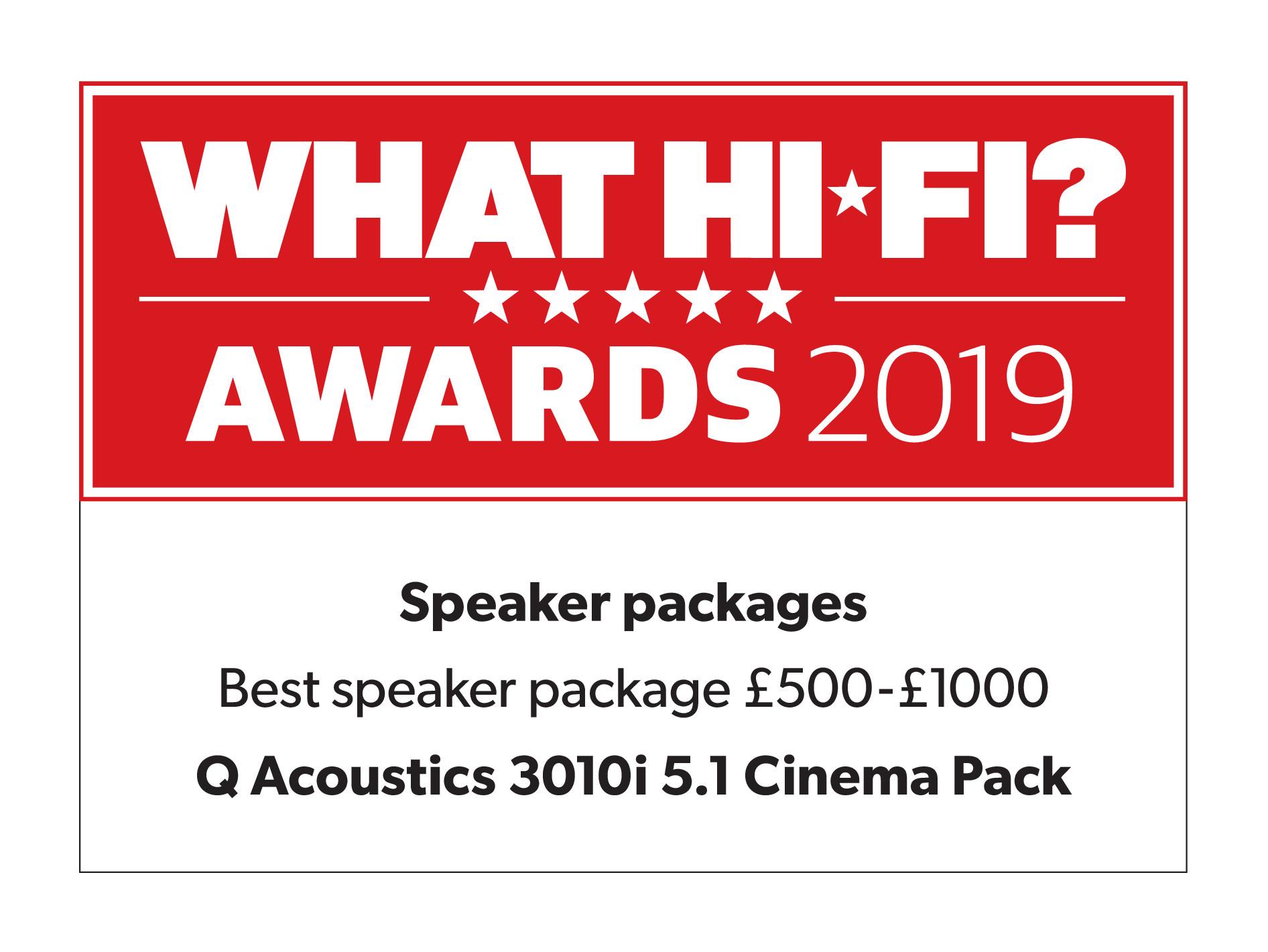 Q Acoustics 3010i Award